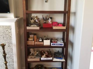 Wood bookcase  without contents  76 x 36 x 14