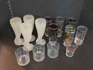 Assorted glasses