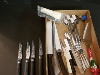 Samurai steak knives and assorted knives