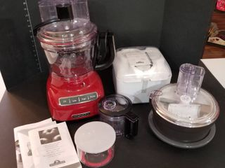 Kitchen Aid food processor with attachments