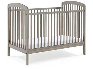 Baby Relax Mydland 3 in 1 Convertible Crib in Coastal Gray