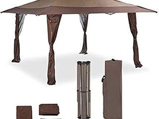 Patio Outdoor Garden Tent Pop Up Structure Shade Elegant Curtains