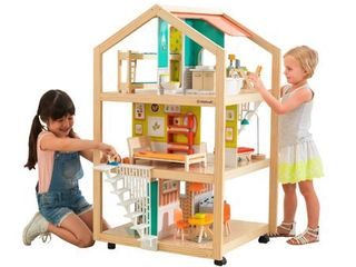 KidKraft So Stylish Mansion Dollhouse with EZ Kraft Assemblya with 42 accessories included