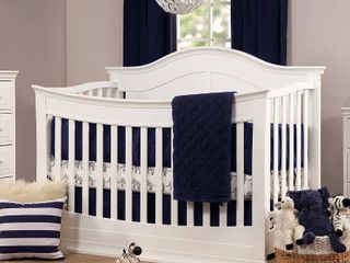DaVinci Meadow 4 in 1 Convertible Crib with Toddler Rail   White