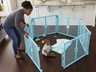 Toddleroo By North States Superyard Indoor outdoor 4 Panel Baby Play Yard  Safe