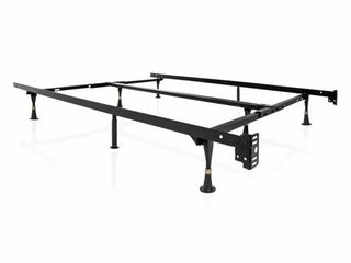 STRUCTURES by Malouf Heavy Duty 8 leg linen Spa Adjustable Metal Bed Frame  Universal