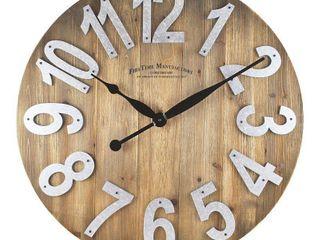 22 5  Farmhouse Slat Wood Wall Clock Tan   FirsTime   Co