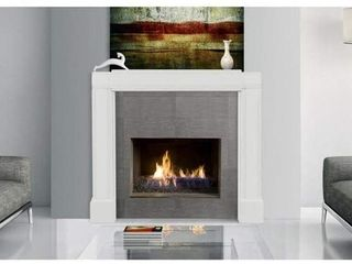 Pearl Mantels 201 Emory Fully Adjustable Mantel Surround  White