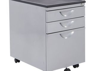 Messina File Cabinet with 3 Drawers in Silver Finish