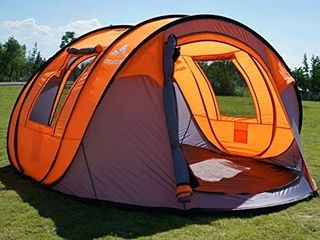 Oileus Pop Up Tent Family Camping Tents 4 Person Tent for Camping Sky Window 45ax 25a  Instant Camping Tent 14 Reinforced Steel Stakes   Carrying 114al 78aW 51aH