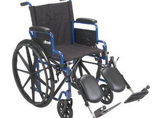 Transport WheelchairWheelchairs K1 Product Description  BlueStreak18 D l FlipBackArms Elev 1 cs