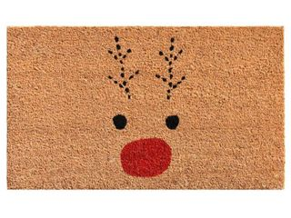 Rudolph 17  x 29  Coir Vinyl Doormat Bedding