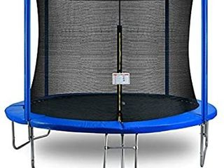 DINOKA Outdoor Trampoline  10FT Trampoline Combo Bounce Jump Outdoor Kids   Adults Trampoline for Family School Entertainment with Safety Enclosure Net Spring Pad ladder