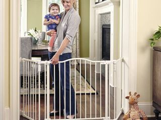 ToddleRoo Northstates Deluxe Decor Gate linen