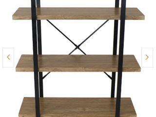 90x26 8x101 5cm Brown and Black 3 Tier Wood Bookshelf