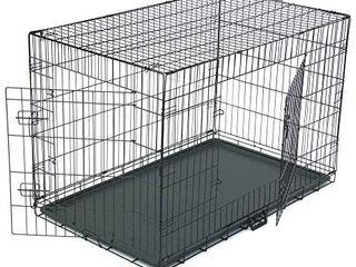 Folding Metal Dog Crate  Single Door Dog Crates