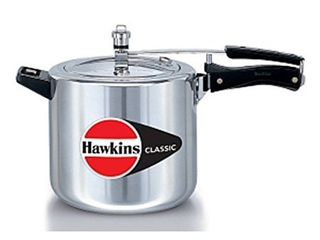 Hawkins Classic Cl65 6 5 liter New Improved Aluminum Pressure Cooker  Small  Silver