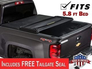 Gator ETX Tri Fold  fits  2014 2018 Chevy Silverado GMC Sierrara 5 8 FT Bed Only Tonneau Truck Bed Cover Made in the USA 59109