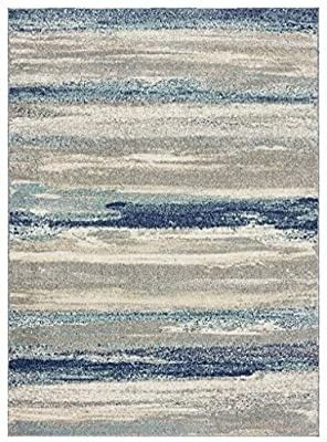 luxe Weavers Tower Hill Abstract Blue 6x9 Area Rug