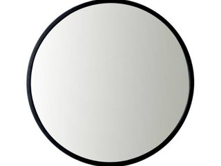 Utopia Alley Medium Round Black Modern Mirror  24 in  H x 24 in  W  Retail 107 49