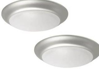 Project Source led Flushmount Ceiling light Fixture Brushed Nickel Finish