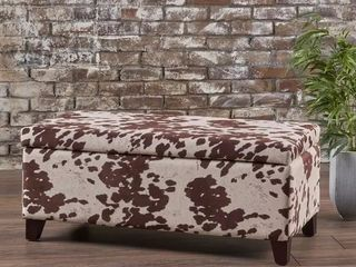 Breanna Contemporary Velvet Storage Ottoman by Christopher Knight Home