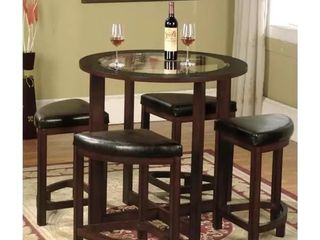Copper Grove Sonfjallet Solid Wood Set of 4 Stools  4 stools only