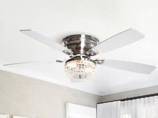 48  low Profile Crystal Indoor Ceiling Fan Retail 179 99