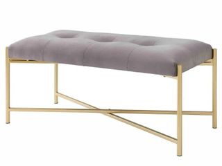 Stanford Velvet Fabric Bench