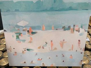 Pastel Beach goer Canvas