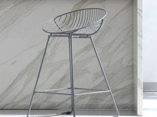 Cosmoliving by Cosmopolitan Ellis Wire Metal Counter Stool Retail 108 49