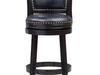 Bristol swivel bar stool black