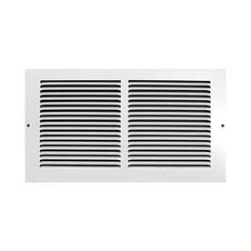 Accord Baseboard Return Grille 12 in x 6 in White Steel louvered Baseboard Grilles