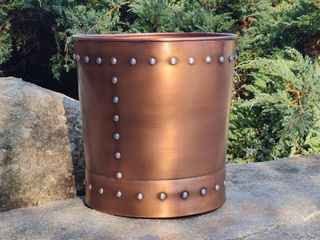 Unique large Riveted Bronze Planter