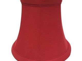 Royal Designs Red Bell Chandelier lamp Shade  3  x 5  x 4 5  Clip On  Set of 6