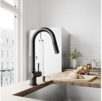 VIGO Matte Black Pull Down Kitchen Faucet