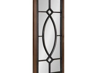 Bakersfield Classic Rectangle Framed Rustic Brown Wall Accent Mirror