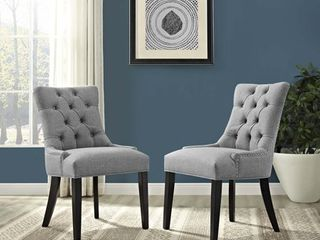 light Gray  Modway Regent Fabric Dining Chair  1 chair