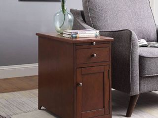 Copper Grove Camporico 1 drawer 1 door Side Table with USB Charger  Scratched