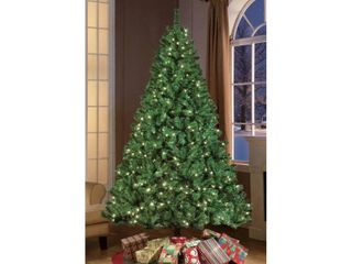 Puleo International 7 5  Pre lit Aspen Green Fir Tree  Tested  lower portion of branch B doesn t light up