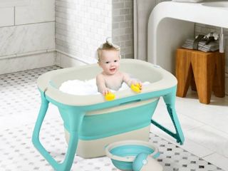 Qaba 4 in 1 Folding Baby Bathtub