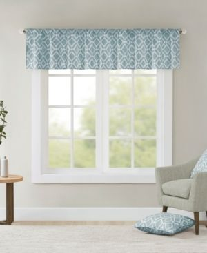 Madison Park Ella Printed Diamond Window Valance   50 x 18   50 x 18