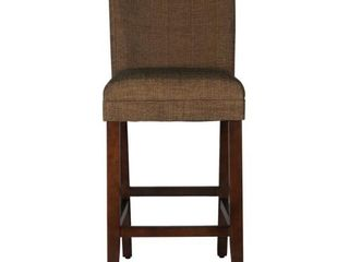 Parsons Brown Upholstery 29 in  Bar Height Barstool