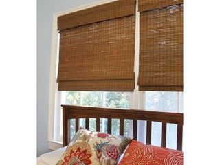 48  Drop Cordless Maple Cape Cod Flatweave Bamboo Roman Shade   23 inches wide x 48 inches long