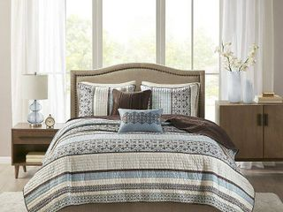 Home Essence Cambridge 5 Piece Reversible Jacquard Coverlet Set