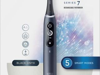 Oral B   iO Series 7 Connected Rechargeable Electric Toothbrush   Onyx Black