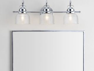 Virginia 25 25  3 light Metal Glass lED Vanity light  Chrome