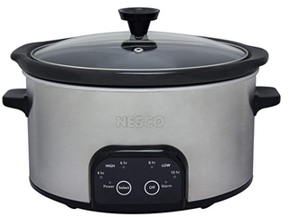 Nesco 6 QT Slowcooker Black   Silver