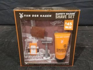 Vander Hagen Safety Razor Shave Giftset Include 5 Count Blades shave Butter