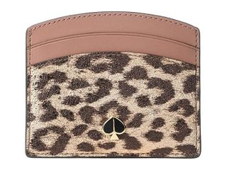 Kate Spade New York Metallic leopard Card Holder